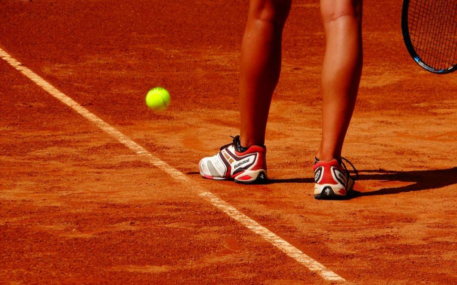 The French Open 2018; red clay and yellow balls